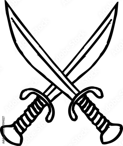 Pirate Swords Clip Art Graphic Design Image Illustration