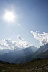 Sonne, Berge, Landschaft
