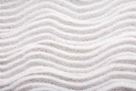 A background design in beautiful white sand