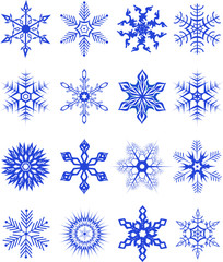 Collection of snowflakes3. Vector illustration