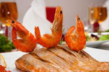 red shrimps