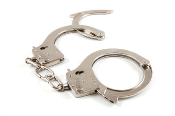 simple Handcuff isolated on a white background.
