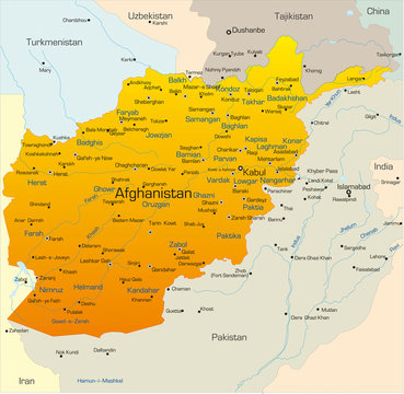 Vector map of Afghanistan country