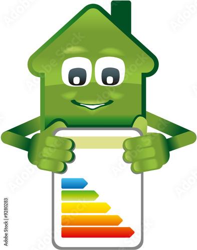 gr nes haus zeigt energiepass stockfotos und lizenzfreie vektoren auf bild 9280283. Black Bedroom Furniture Sets. Home Design Ideas