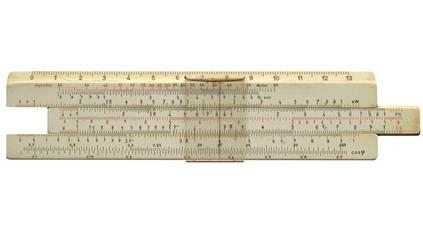 Slide ruler vintage measuring instrument and calculator