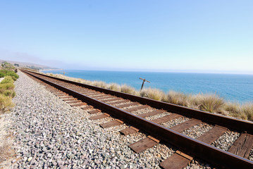 Coastal Train Tracks Off Santa Barabara