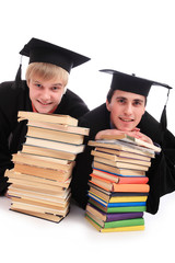 Portrait of a young people in an academic gown.