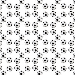 Soccer ball seamless texture -  isolated on white background