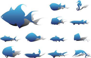 Set icons. Fish