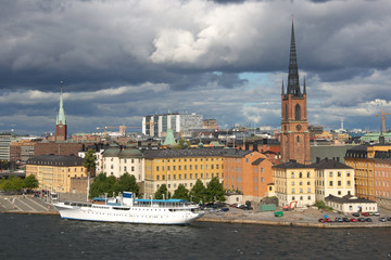 View of the old city in Stockholm, Sweden