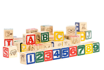 Wooden blocks spell out your future. Education and School