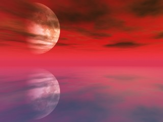red water planet