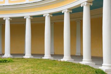part of colonnade in decorative garden