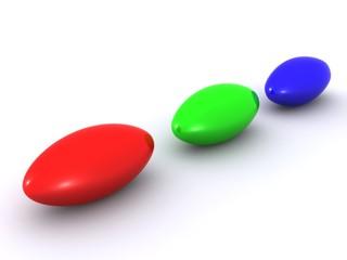 RGB balls. 3d