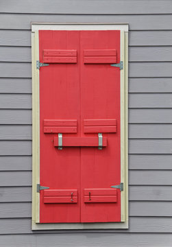 Brightly Colored Storm Shutters