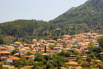 The inland village of Karia in Lefkada island, Greece