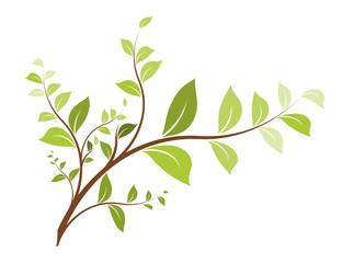 vecteur série - arbre branche vectorielle sur fond blanc