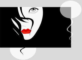 vector image of vamp woman