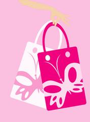 vector image of shopping bag