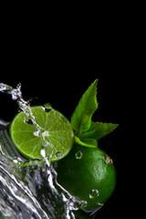 splashed limes