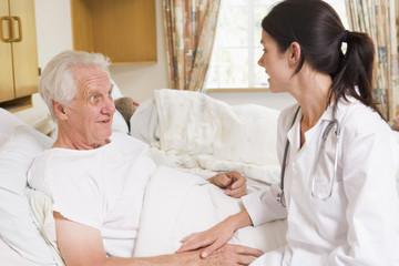 Doctor Talking With Senior Man