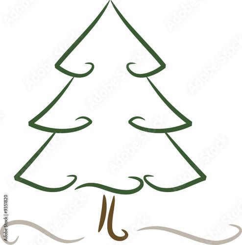 zeichnung weihnachtsbaum nadelbaum stockfotos und. Black Bedroom Furniture Sets. Home Design Ideas
