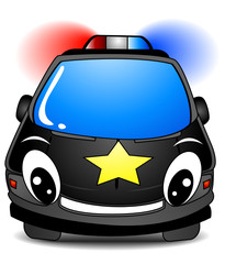 Wall Murals Cars Police Car