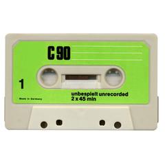 Magnetic audio tape cassette for music