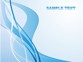 wavy abstract vector background with copy space