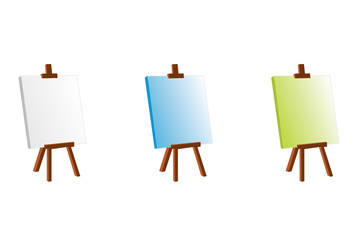 Three painting easel