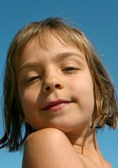 portrait de fillette douce