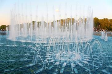 fountain in park. Moscow. Tsaritsino.