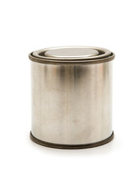 one tin on white background