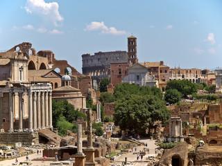 rom, die ewige stadt, kolosseum, forum romanum, via sacra