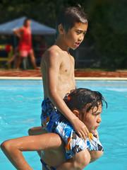 wasserspaß während sommerferien