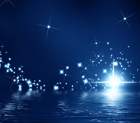 star on a dark background