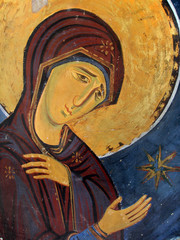 Virgin Mary Icon In Eastern Orthodox Christian Style