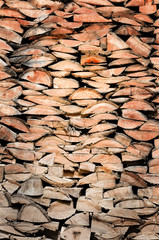 wood logs wall showing its detailed texture