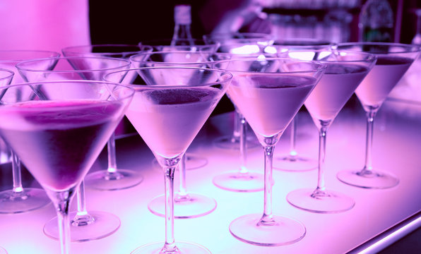 Welcome drink in a night club