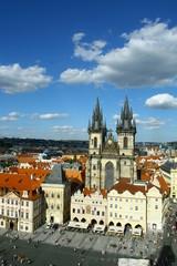 Vue aérienne de Prague