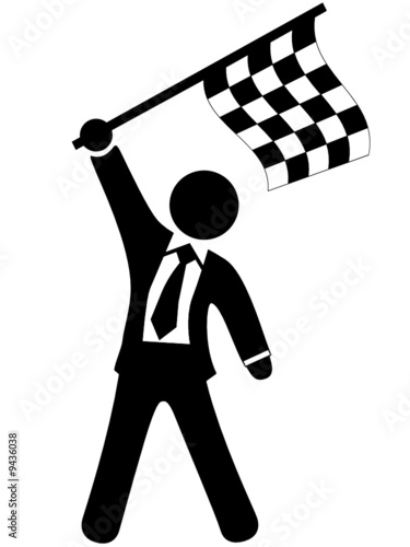 Line Art Xl 2008 : Quot you win race get checkered flag at finish line stock
