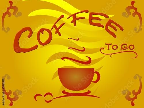 schild in gelb und braunt nen coffee to go stockfotos und lizenzfreie bilder auf. Black Bedroom Furniture Sets. Home Design Ideas