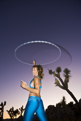 Hoop dancer performing in the California desert.