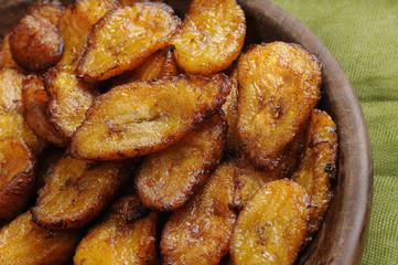 Typical cuban dish - fried sliced banana