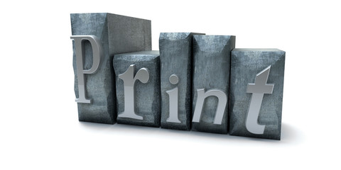 Print word written with print letter cases