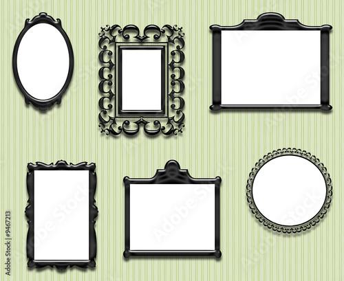 cadre papier peint vert photo libre de droits sur la banque d 39 images image 9467213. Black Bedroom Furniture Sets. Home Design Ideas