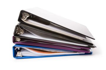 file folder, Ring Binder, with white background