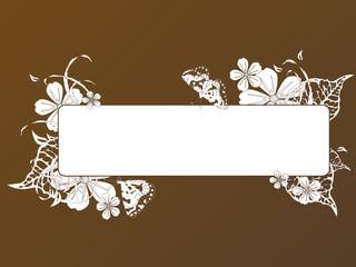 Blank autumn tablet, vector