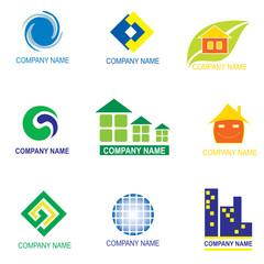 set of logo design - real estate