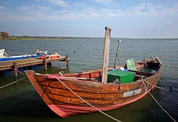 Stettiner Haff-Fischerboot in Kamminke